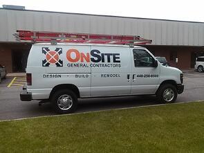 Contractor van graphics Northeast OH