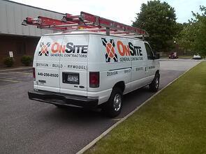 Van graphics for Cleveland contractors