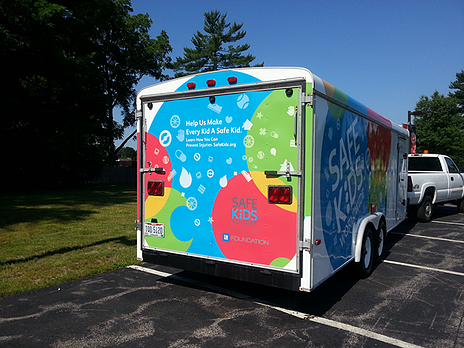 Event trailer graphics Akron OH