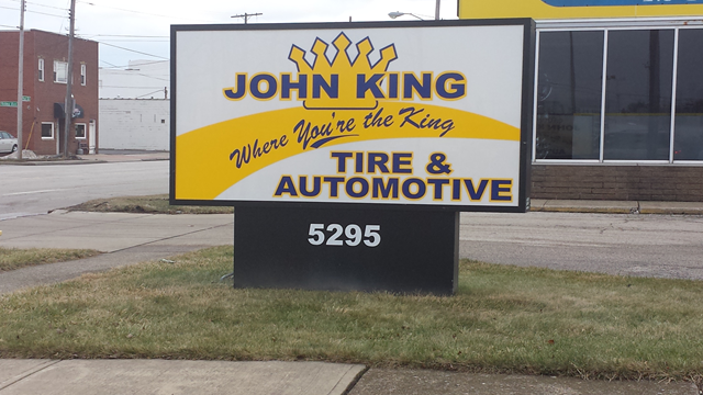 Lighted Business Sign
