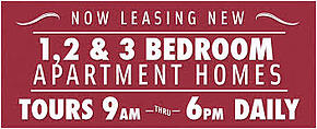 Apartment leasing banners Cleveland