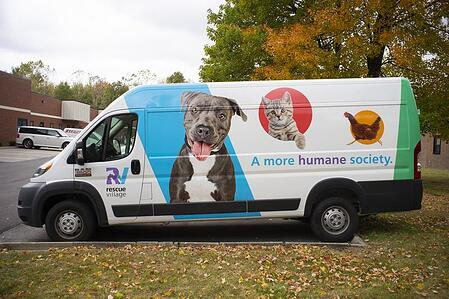 Rescue Village Van Wrap