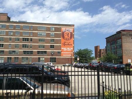 Building banner Cleveland
