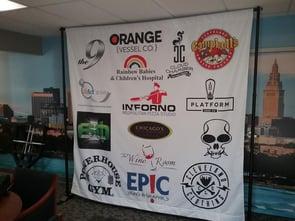 Back drop banner