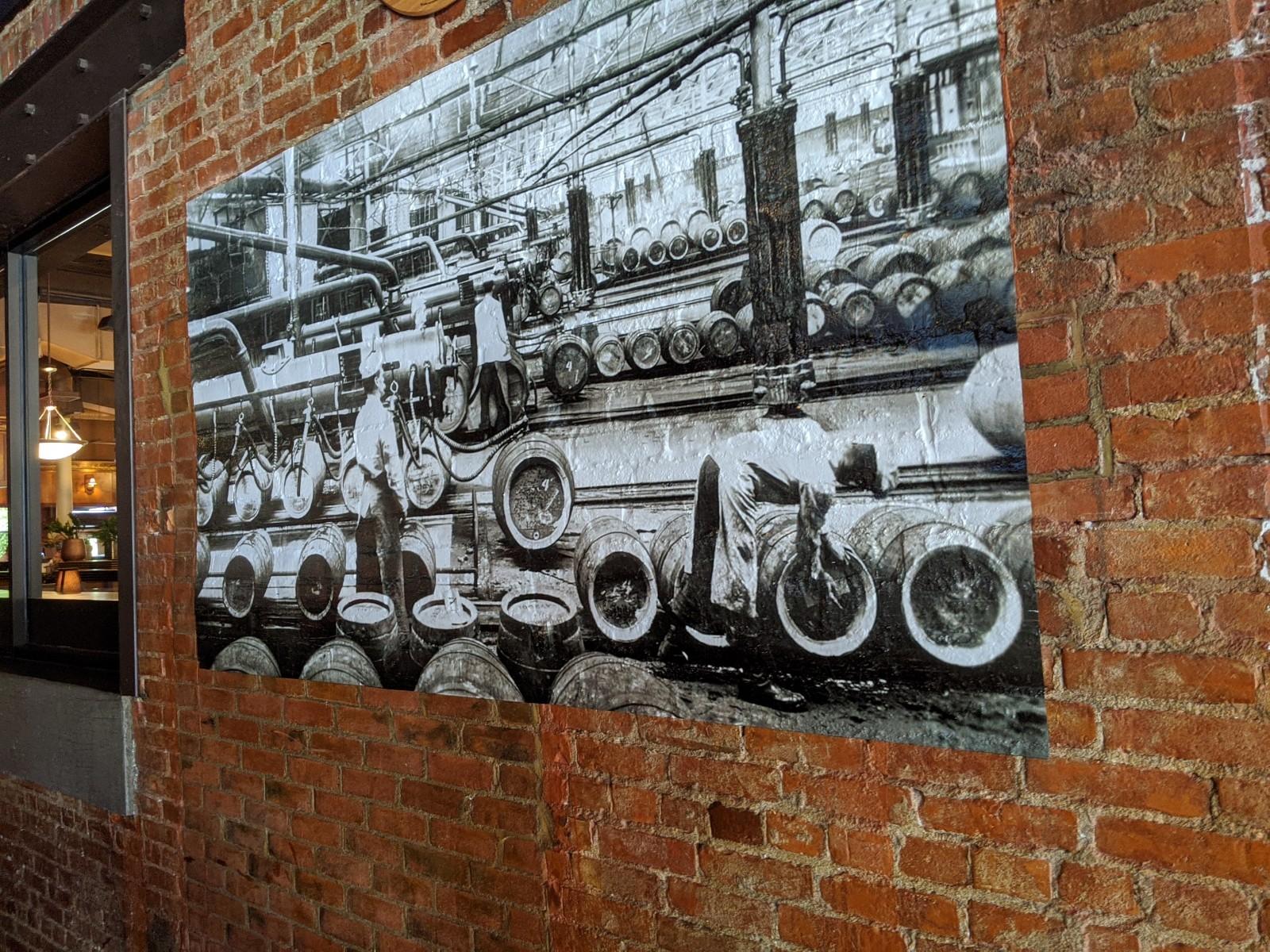 Brick wall vinyl mural