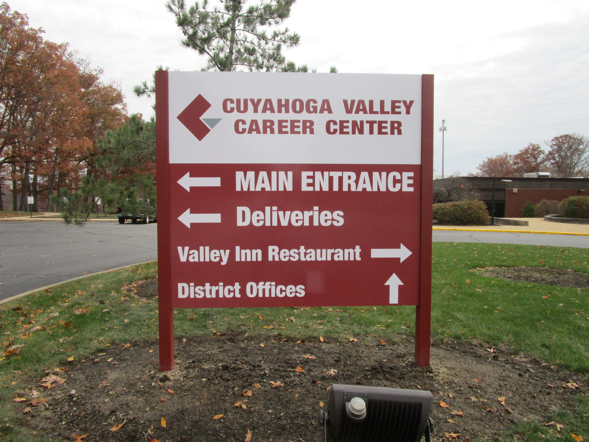 cuyahoga valley career center directional sign