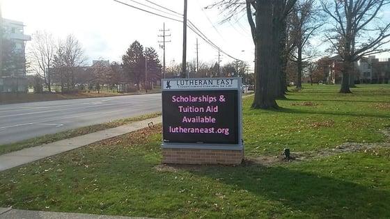 Lutheran East  school digital exterior sign