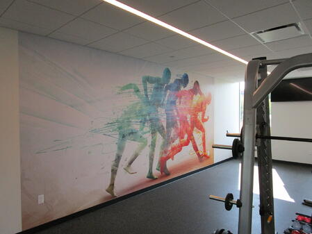 Work Out Room Wall Graphics