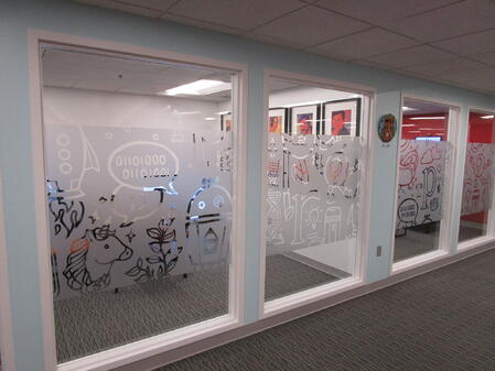 Etched window graphics Cleveland, Oh