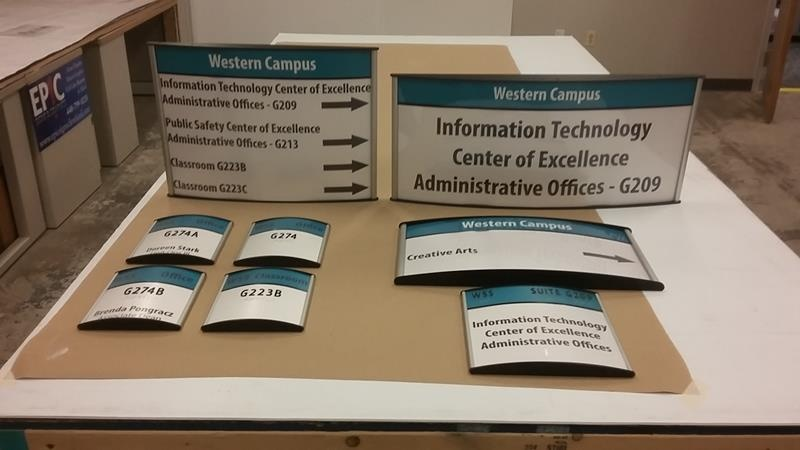 interior signs for Cuyahoga Community College, west