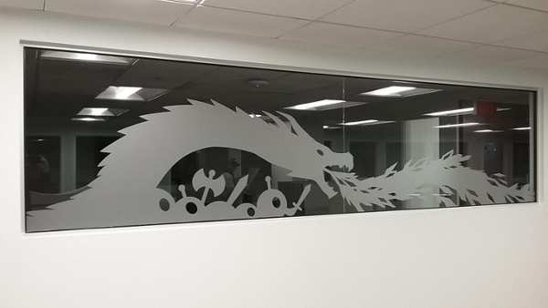 Cleveland etched windows
